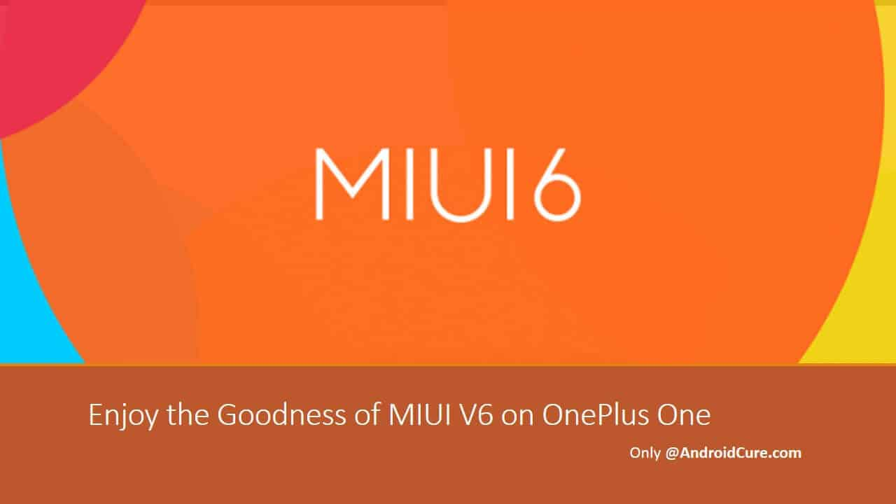 install MIUI V6 ROM on OnePlus One