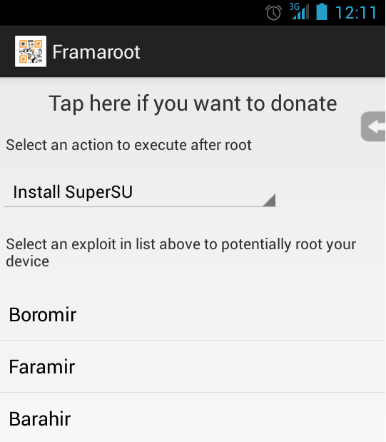 framaroot for Coolpad Note 3