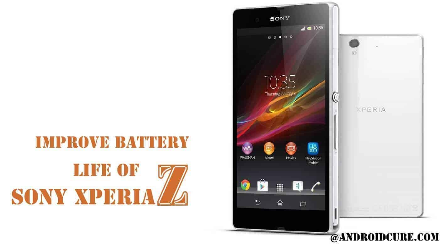 Increase Sony Xperia Z Battery Life