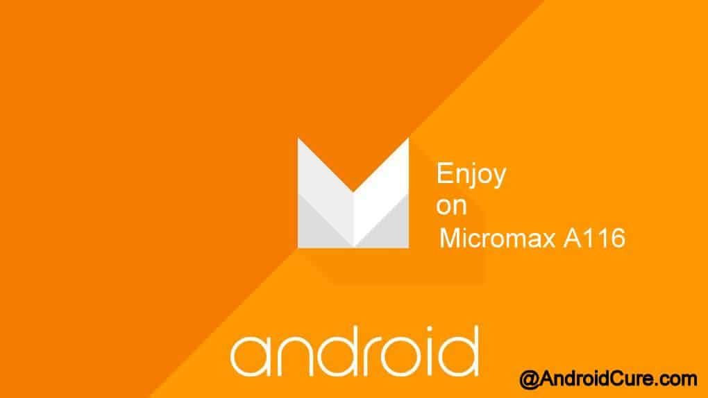 Android 6.0 Marshmallow Themed Rom for Micromax A116