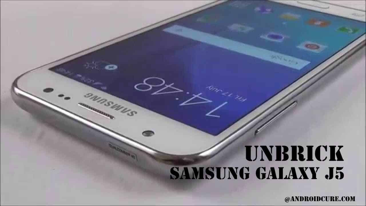 unbrick Samsung Galaxy J5 with stock firmware