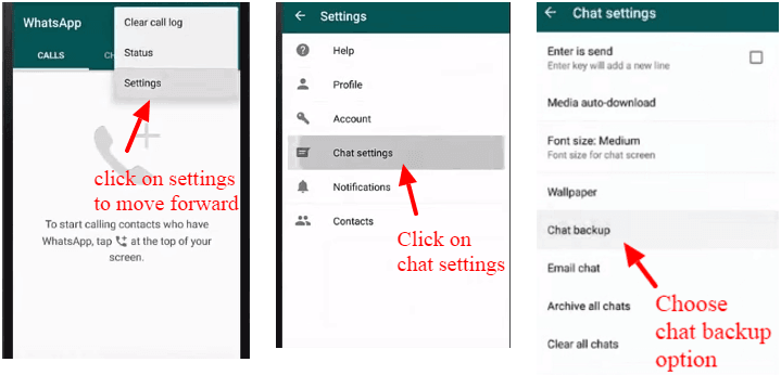 Backup WhatsApp messages using Google Drive