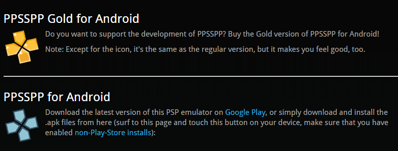 PPSSPP Free and Gold Version