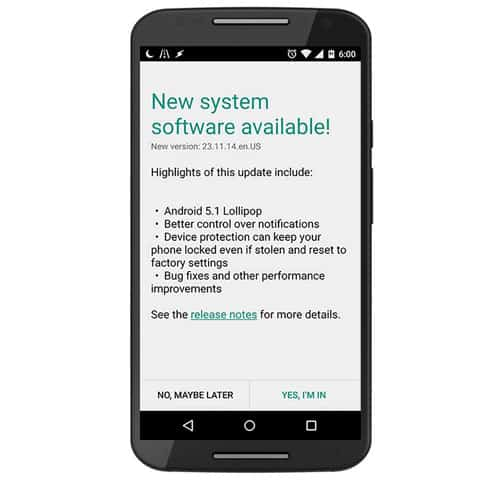 android update available
