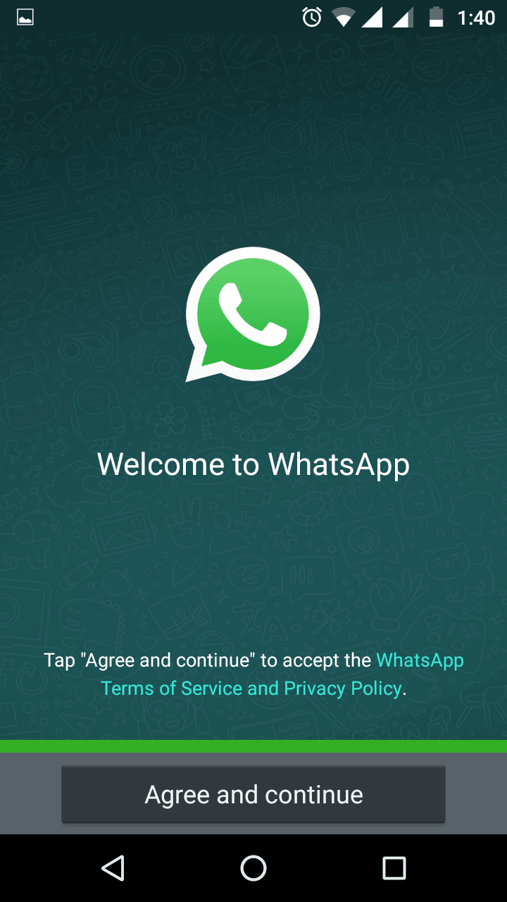 Start Whatsapp