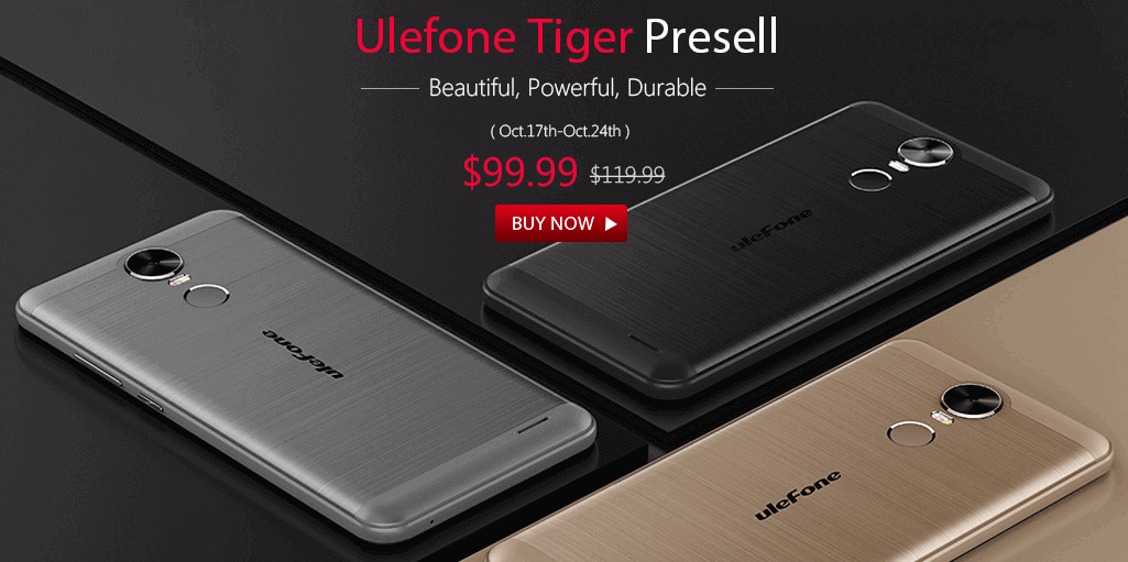 Ulefone Tiger 4G Phablet Gets on Pre-sale.