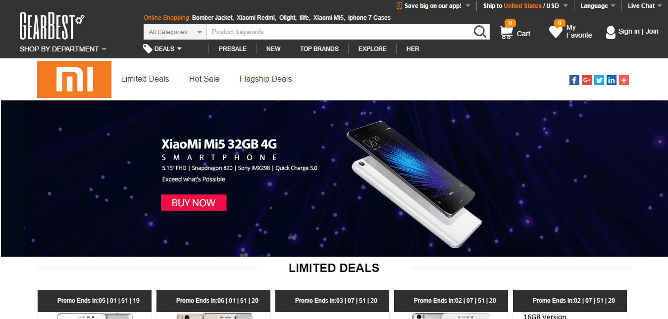 Xiaomi Official Store GearBest