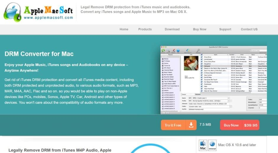 Mac DRM Converter Convert iTunes M4P Apple Music to MP3