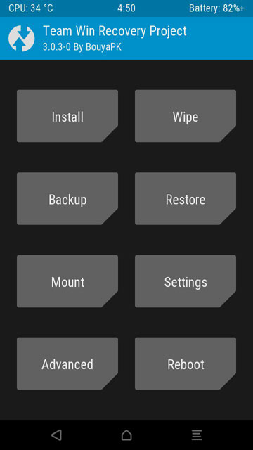 Oppo F1S A1601 TWRP Recovery Mode