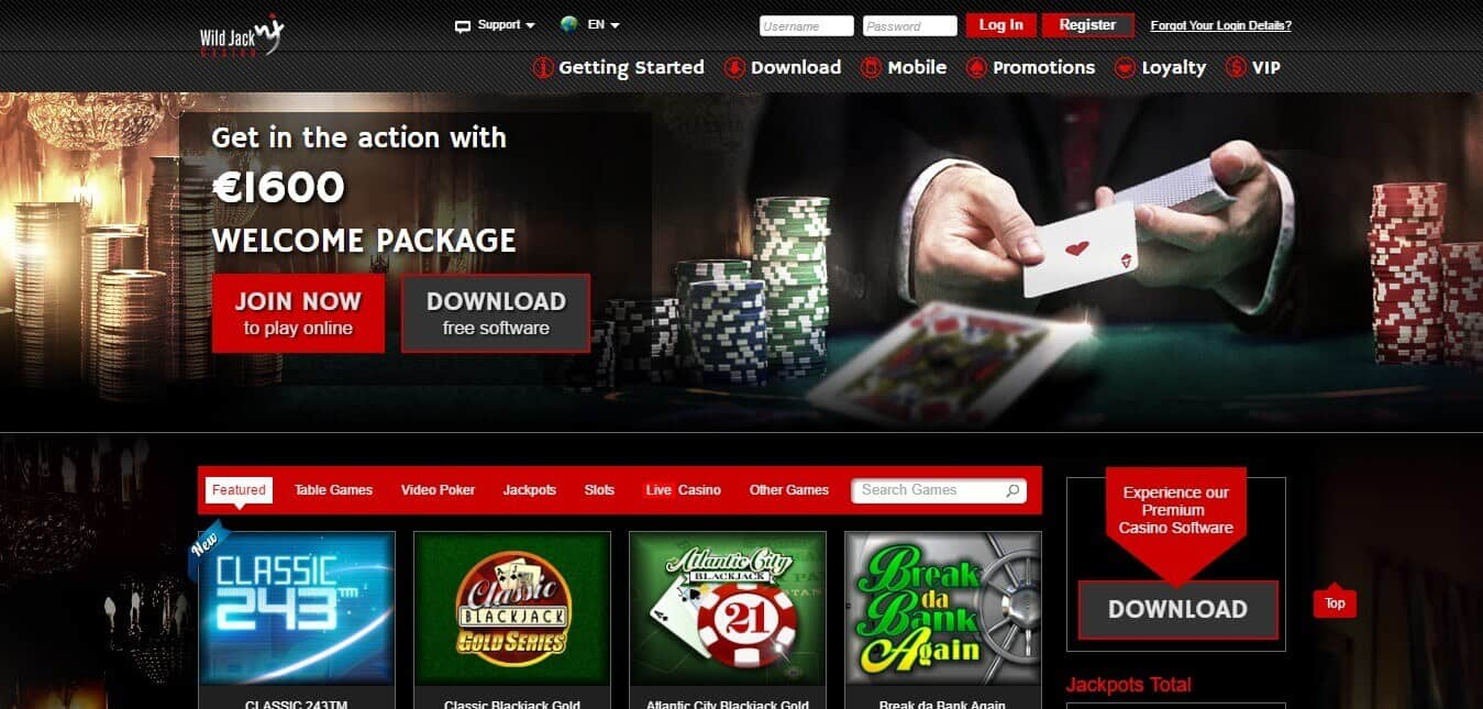 wild jack casino online