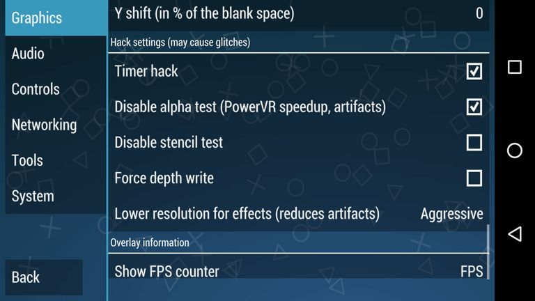 PPSSPP hack settings
