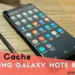 delete cache on Samsung Galaxy Note 8