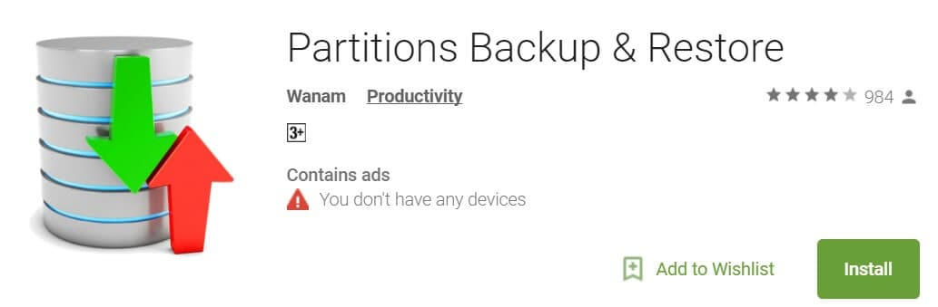 partitions backup restore on galaxy note 8