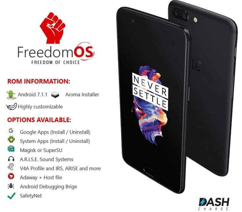 FreedomOS best Rom oneplus 5t