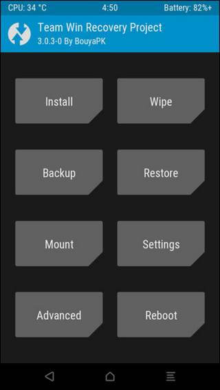 Samsung Galaxy S8 TWRP Recovery Mode
