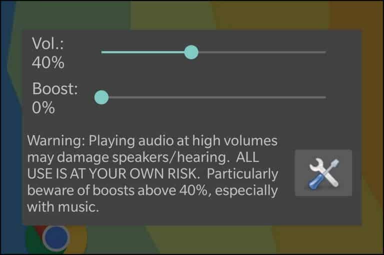 Speaker boost app screen shot