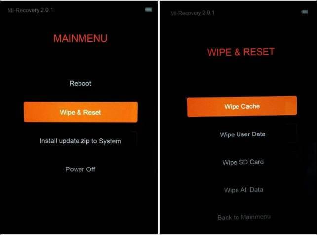 Xiaomi Mi recovery mode