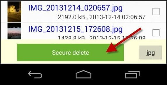 delete images android phone