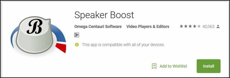 speaker boost app galaxy note 8
