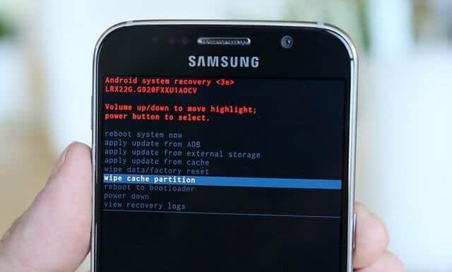 Clear Cache Galaxy S5
