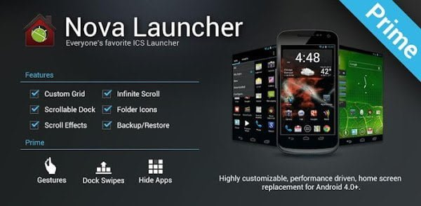 Nova Launcher Performance Driven
