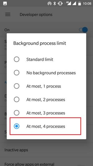 Limit Background Process Huawei P9 Lite