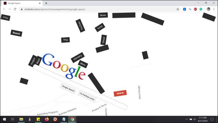 Gravity Google Space