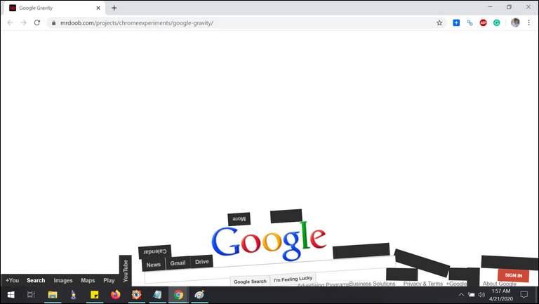 Gravity Google Flat Fall