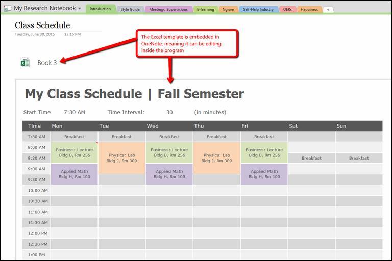 Keep a Schedule