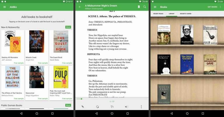 Aldiko book reading app