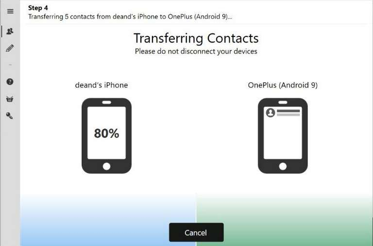 Contact Transfer app