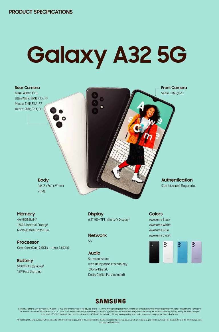 Galaxy A32 5G Specification