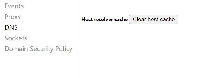 host resolve cache chrome
