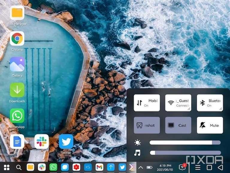 PC Mode Xiaomi Mi Mix Fold navigation