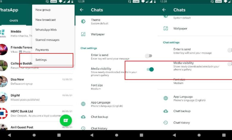 Disable photo saving on WhatsApp on Android