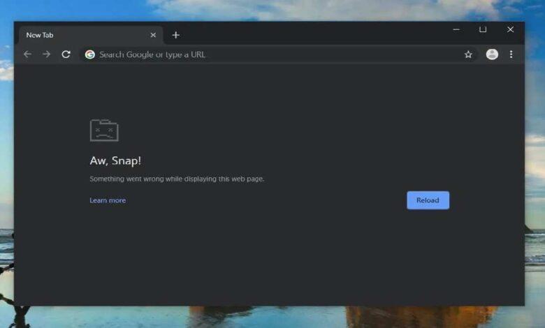 Fix Google Chrome crash after an update