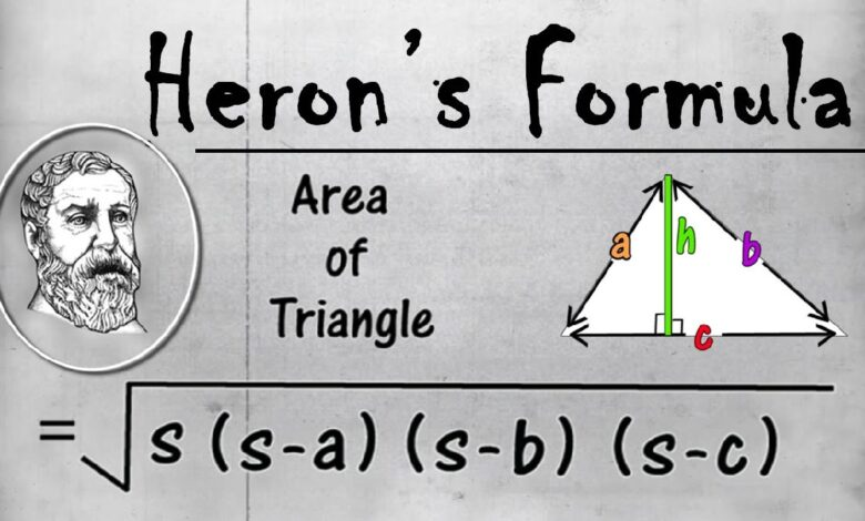 Use Heron's Formula to Find the Area of a Triangle