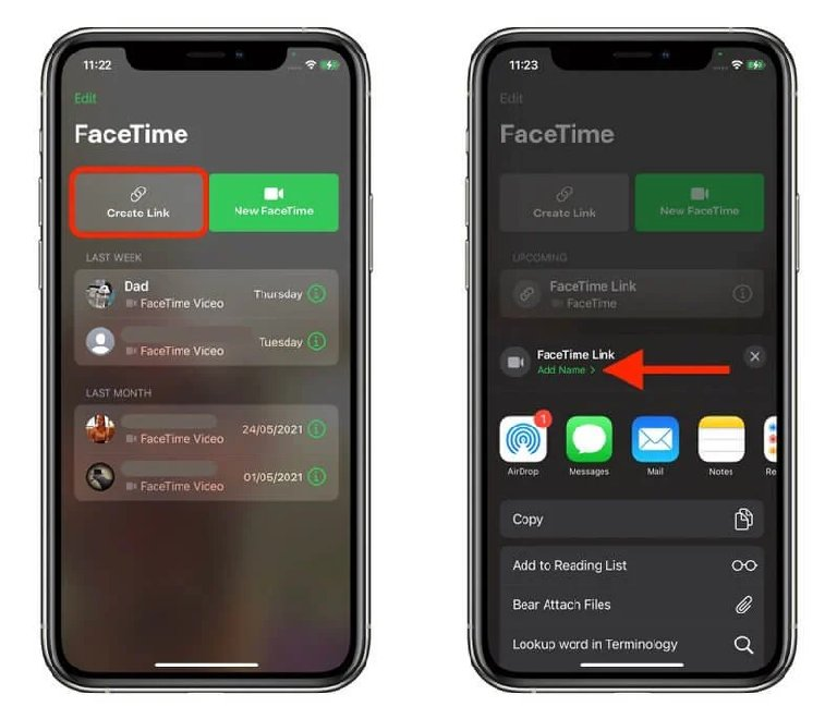 Create A Facetime Link