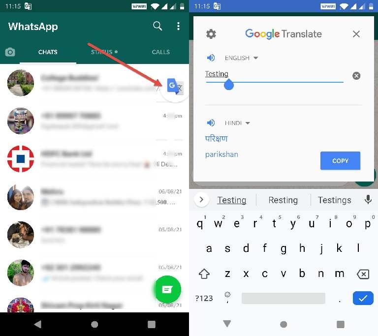 How To Use Google Translate On WhatsApp